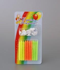 0101 свечи для торта с подставками 10 шт