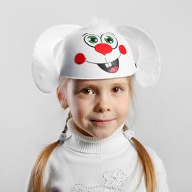 """Карнавальная детская шляпка """"Зайчик"""""""