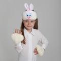 """Карнавальный набор """"Зайчик"""" 2 предмета: шапка-маска, лапы 1123444"""