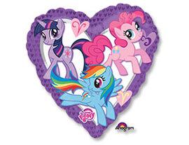 """А 18"""" My Little Pony сердце S60"""