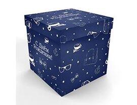 Коробка д/надутых шар 60см С ДР синяя