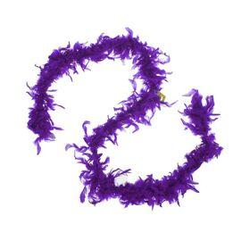 Карнавальный шарф-перо 180 см, 60 грамм, цвет темно-фиолетовый   1496142