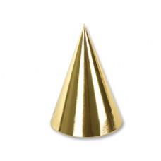 Колпак фольгированный золотой 6шт/G
