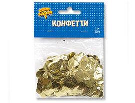 Конфетти Круги фольг золото 1см 20гр/G