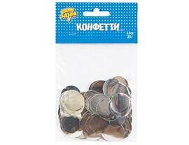 Конфетти Круги фольг серебро 2,5см 20грG