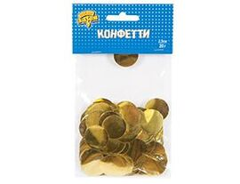 Конфетти Круги фольг золото 2,5см 20гр/G