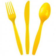 Столовые приборы пласт Yellow 24шт/А