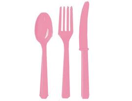 Столовые приборы пласт Pink 24шт/A