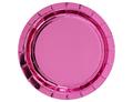 Тарелка фольг розовая 17см 6шт/G