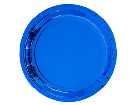 Тарелка фольг синяя 23см 6шт/G
