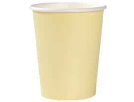Стакан Пастель желтый 250мл 6шт/G