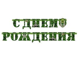 Гирл-буквы С ДР Камуфляж 210см/М