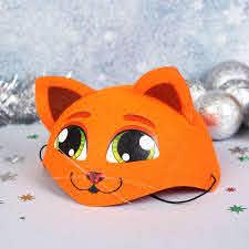 """Карнавальная детская шляпка """"Рыжая кошка"""""""