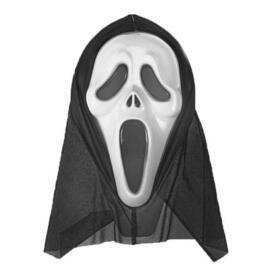 """Карнавальная маска-чулок """"Крик"""", цвет белый"""