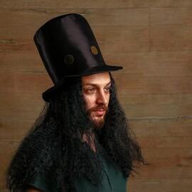 Карнавальная шляпа Колдун с волосами