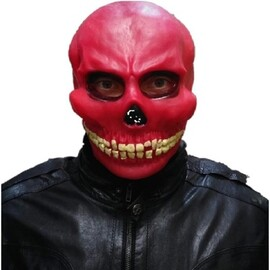 """Карнавальная маска латекс """"Череп красный"""""""
