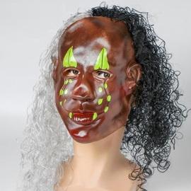 """Карнавальная маска латекс """"Афро"""" с волосами"""