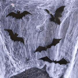 Аксессуар для Хэллоуина «Хэллоуин», паутина, фигурки летучие мыши
