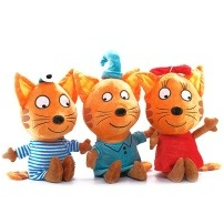 Мягкая игрушка М/Ф Три кота, в ассорт., 27 см