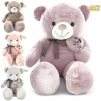 Мягкая игрушка Медведь с бантом в горох + сердце, 110 см