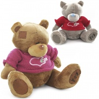 Мягкая игрушка Мишка Тедди, в кофте LOVE, 34 см