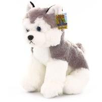 Мягкая игрушка Собака Хаски, сидячая, 20 см