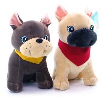 Мягкая игрушка Собака Бульдог (супер мягкий) 42 см