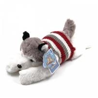 Мягкая игрушка Собака Хаски в кофте, 65 см