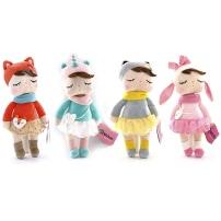 Metoo Мягкая игрушка Кукла-Сплюшка с сумкой, 36 см