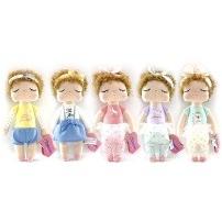 Metoo Мягкая игрушка Кукла-Сплюшка Кудрявая, 36 см