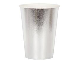 Стакан фольгирован серебряный 210мл 6штG